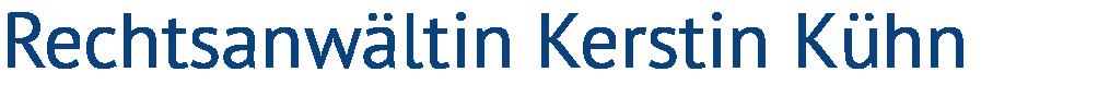 Rechtsanwältin Kerstin Kühn